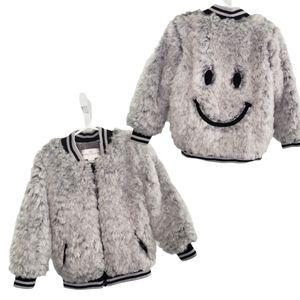 American Widgeon fuzzy happy face varsity jacket